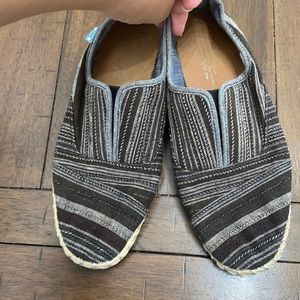 Toms Size 6.5 slip ons